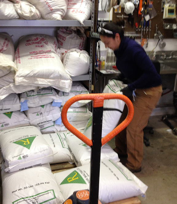 Moving 630 lbs of barley malt