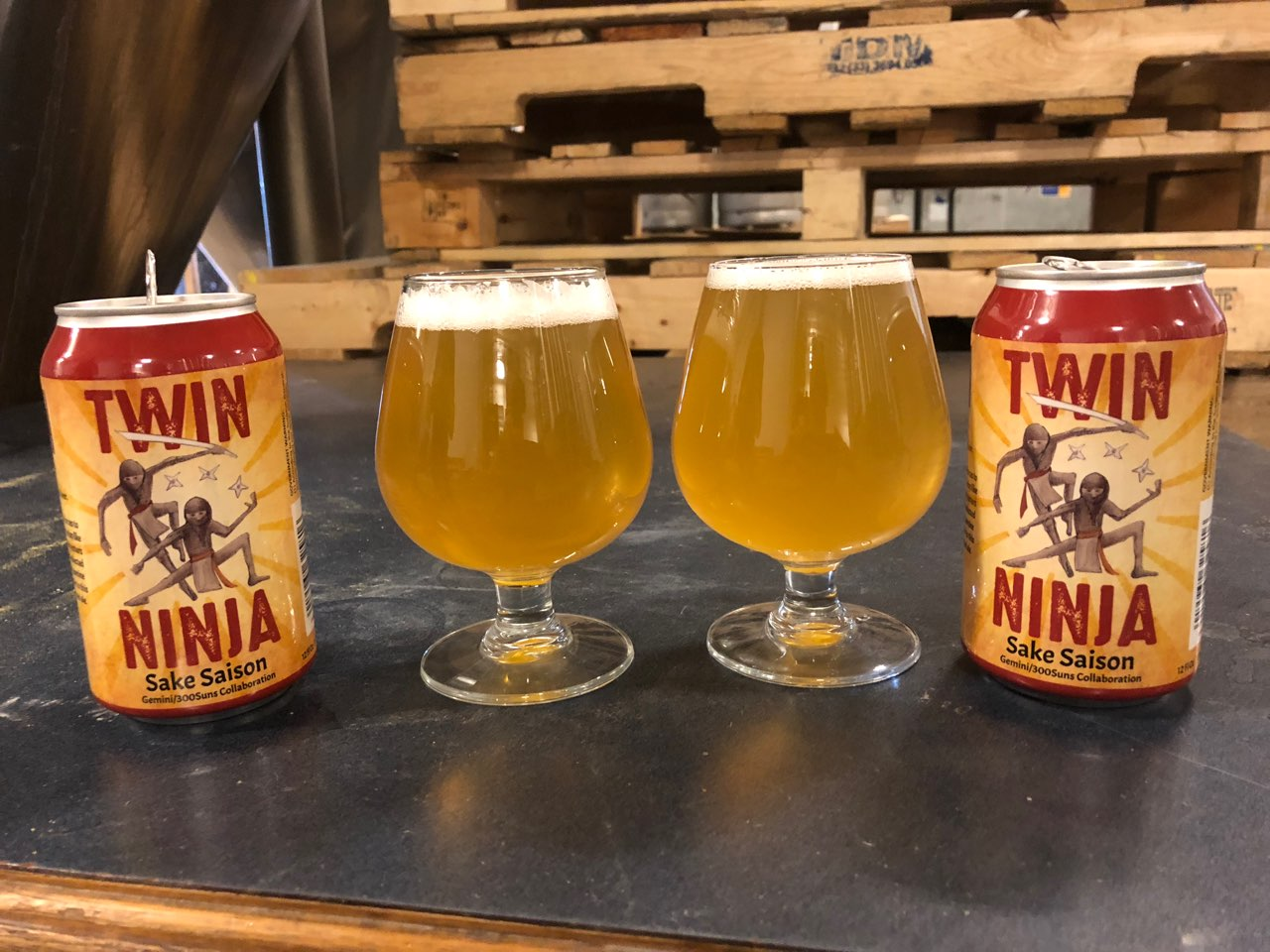 Twin Ninja Sake Saison Release March 2018 | 300 Suns Brewing
