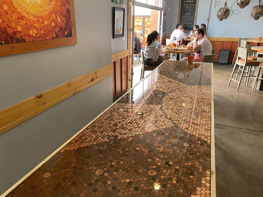 New bartop seating at 300 Suns Tasting Room